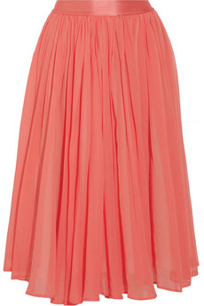 See by Chloé|Cotton and silk-blend georgette skirt|NET-A-PORTER.COM