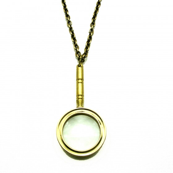 My Dear Watson Real Magnifying Glass Long Chain Pendant - Vintage Inspired Jewellery By Zara Taylor