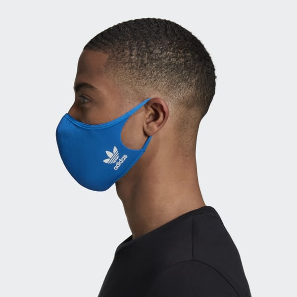 adidas Face Covers M/L 3-Pack - Blue | adidas UK