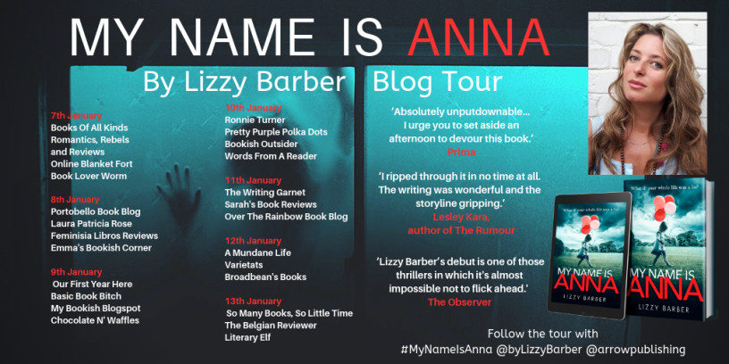 My Name Is Anna by Lizzy Barber – Blog Tour