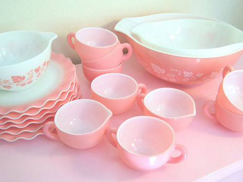 Oh So Lovely Vintage: Think pink.