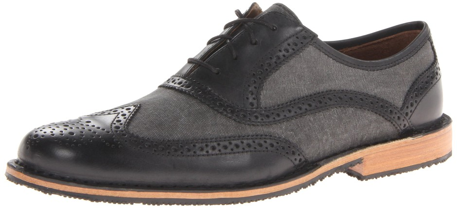 Amazon.com: Sebago Men's Brattle Wing Tip Oxford, Black, 9.5 D US: Oxfords Shoes: Shoes