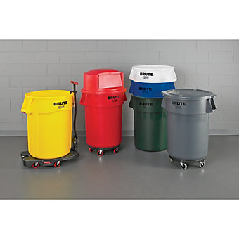 RUBBERMAID BRUTE Round Container - 20-Gallon Capacity - Trash Cans & Tops - Janitorial & Maintenance   C&H Distributors