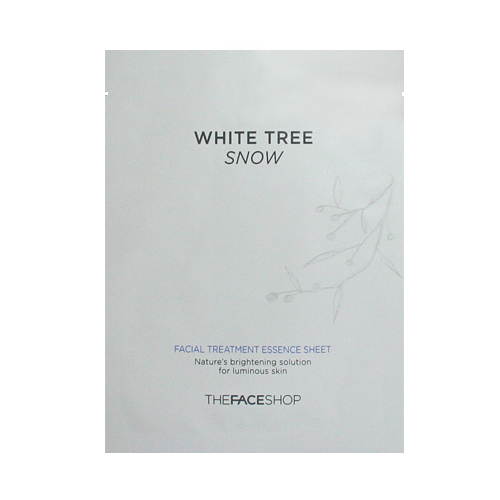 THE FACE SHOP WHITE TREE SNOW FACIAL TREATMENT ESSENCE SHEET (5page)|The face shop|Mask sheets|Koreadepart