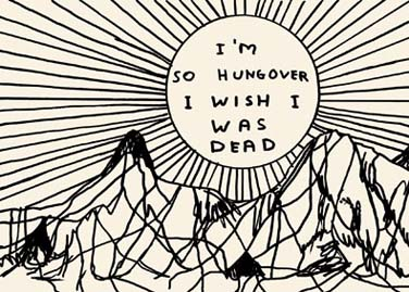 CARDS > others - David Shrigley: HUNGOVER - Satellite サテライト | art books 現代アート書籍 | art goods 現代アートグッズ | art works 現代アート作品