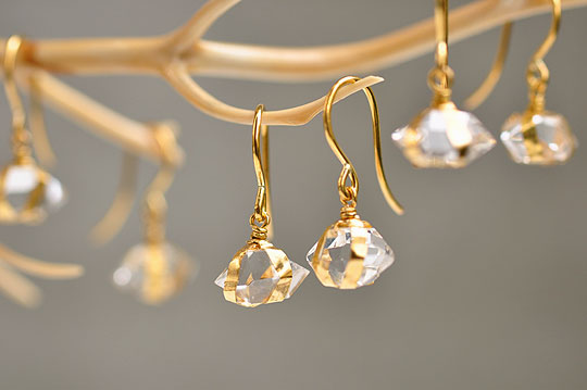 Herkimer Diamond Earrings - SOURCE - SOURCE objects