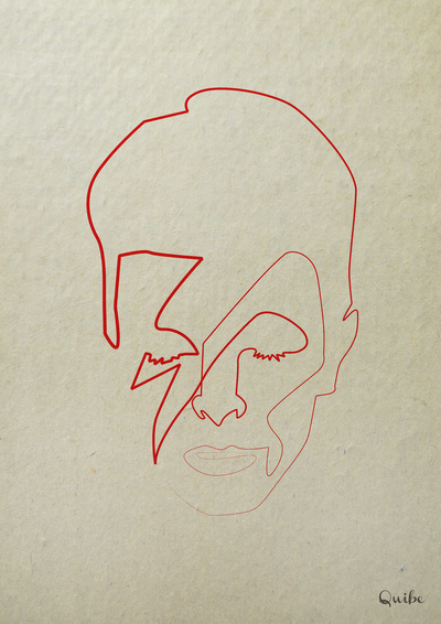 One Line David Bowie Art Print by quibe | Society6