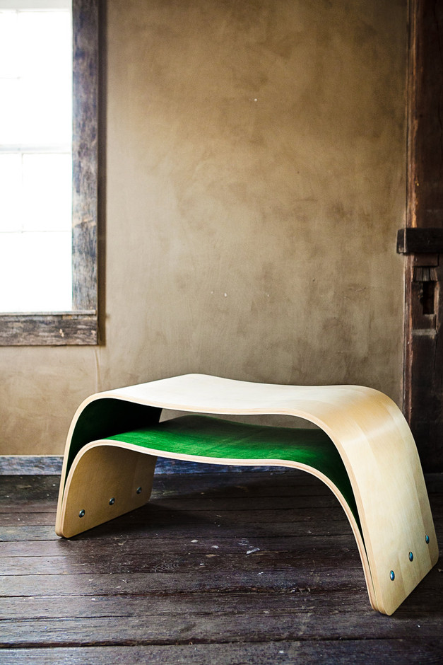 Bent Plywood Bench/Table by Ciseal on Etsy