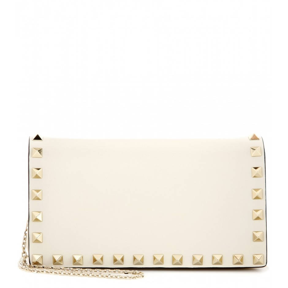 mytheresa.com - Rockstud leather clutch - Current week - New Arrivals - Valentino - Luxury Fashion for Women / Designer clothing, shoes, bags