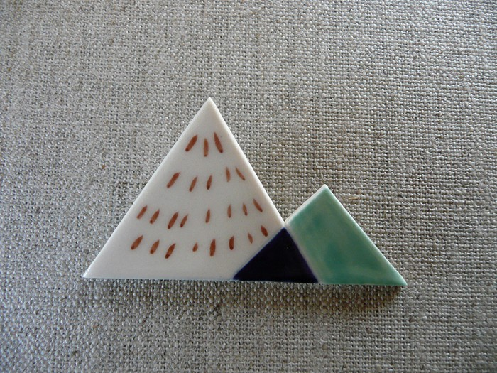 SALE Zigzag Mountain Brooch - by andODesign on madeit