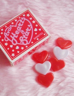 """Accessories - (1) 1980's Vintage Avon """"TRIPLE HEARTS"""" 2 Barrettes【箱付DEAD-STOCK♡】 - Little ♥ Hideaway 〜ヴィンテージから現代まで〜 Candy Hearts♡USA & UK 輸入雑貨"""
