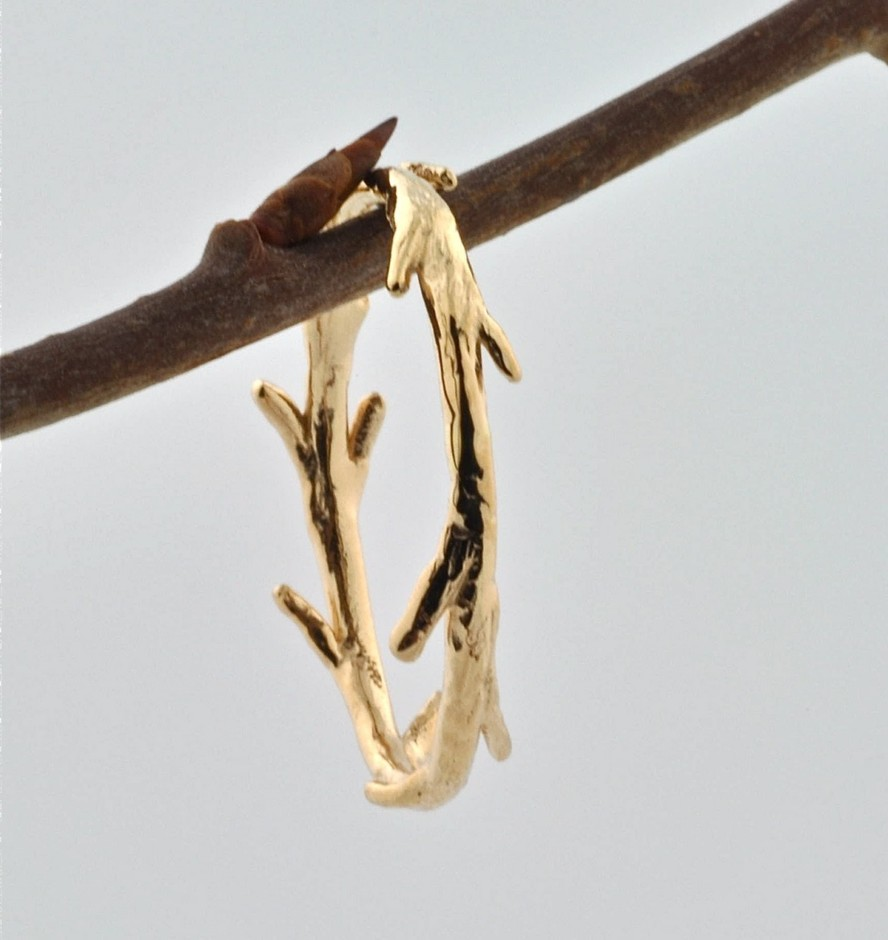 14k Gold Twig Ring by colbyjune on Etsy