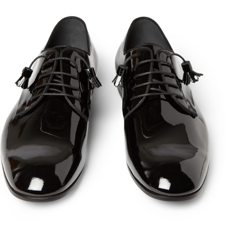 GucciPatent Leather Derby Shoes|MR PORTER