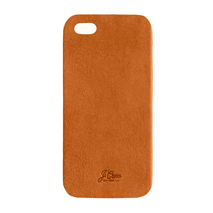 Leather iPhone 5 case - iphone cases - Men's bags & accessories - J.Crew
