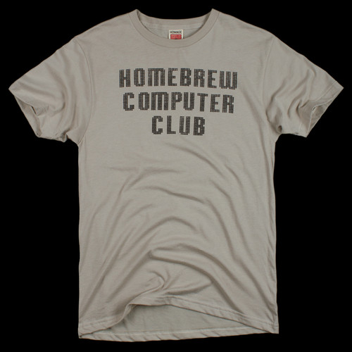 HOMAGE Homebrew Computer Club 1970s Silicon Valley Hobbyists T-Shirt - $28.00