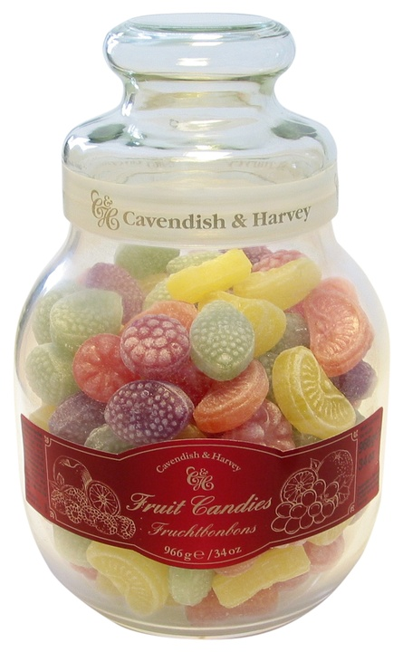 Monel Gourmet : Assorted Fruit Hard Candy Jar