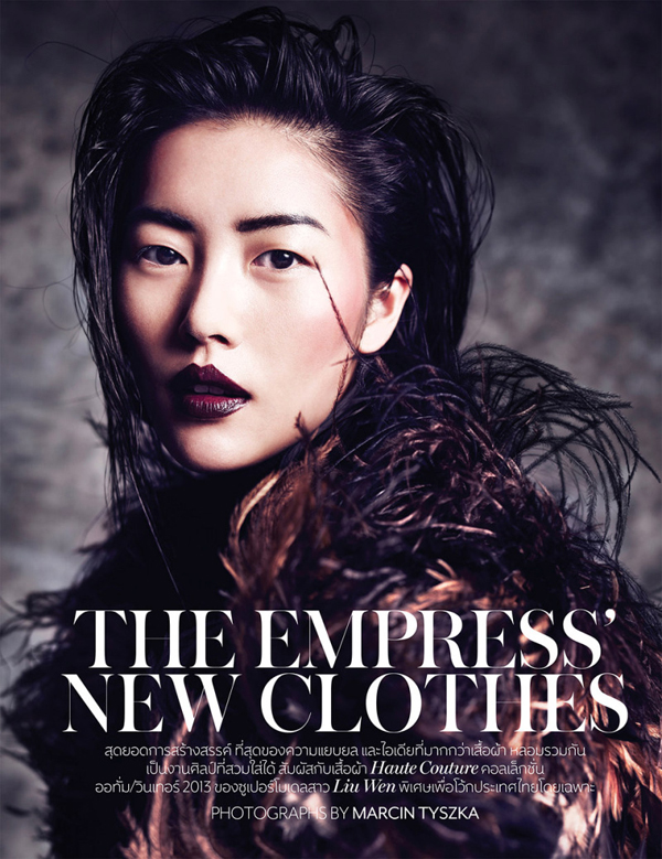 In Vogue Thailand October 2013, Marcin Tyszka Lenses Liu Wen In 'The Empress' NewClothes' - 8 Style   Sensuality Living - Anne of Carversville Women's News
