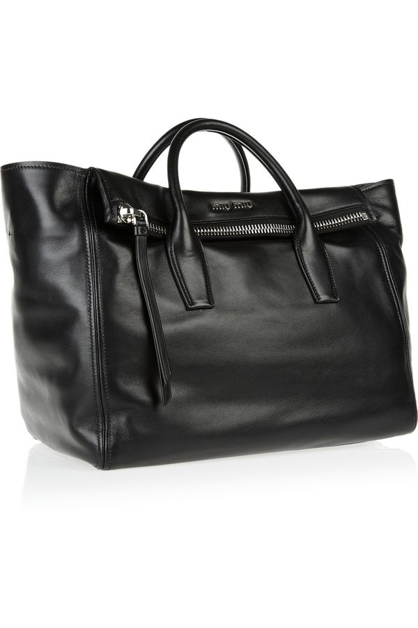 Bags / Miu Miu | Leather trapeze bag | NET-A-PORTER.COM