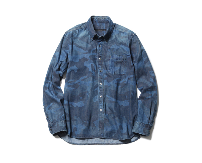 SOPHNET. | PRODUCT | CAMOUFLAGE DENIM B.D SHIRT (BIO WASHED)