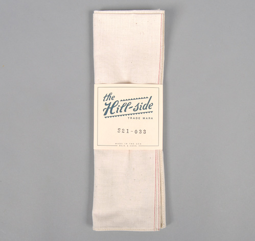 S21-033 SELVEDGE LIGHTWEIGHT POPLIN BANDANA, NATURAL :: HICKOREE'S HARD GOODS