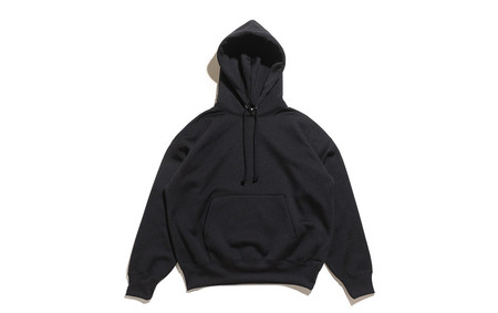 Baggy Polyester Sweat P/O Parka-Black