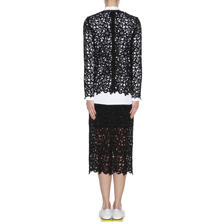mytheresa.com - Lace top - Long-sleeved - Tops - Clothing - Valentino - Luxury Fashion for Women / Designer clothing, shoes, bags