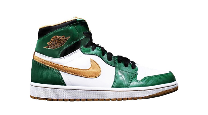 NIKE AIR JORDAN 1 RETRO HIGH OG CLOVER/METALLIC GOLD/WHITE/BLACK - sneaker resource