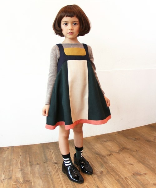 pinnafore - color blocked | +DOLL BABY'S+ | Pinterest