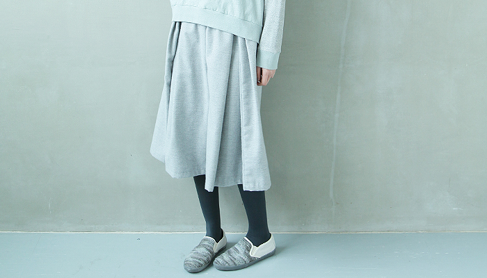 sneeuwタックワイドキュロット[grey] sneeuw_preorder Palm maison store