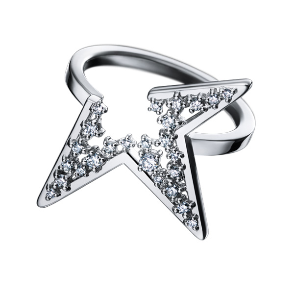 """abstract star Ring RD-F2624-WGK18   abstract star   COLLECTION LINE """"Abstract World""""   COLLECTIONS   TASAKI"""