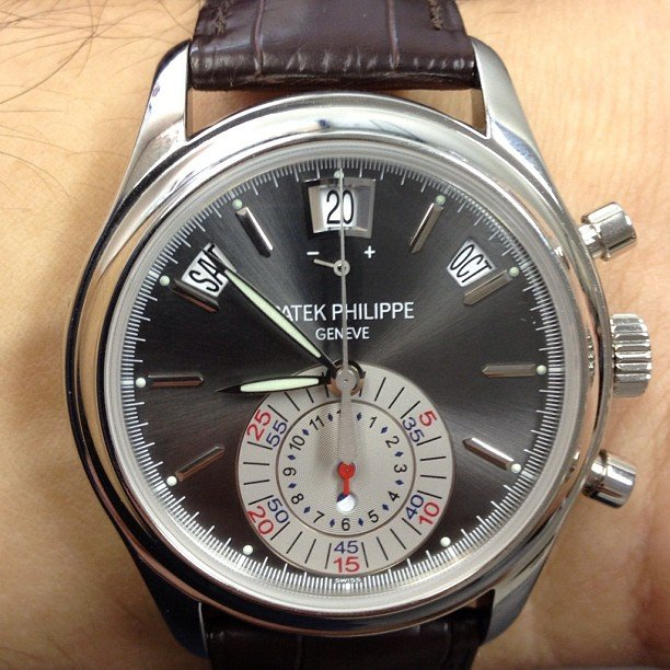 Fancy - Patek Philippe Annual Calendar Chronograph Platinum Watch