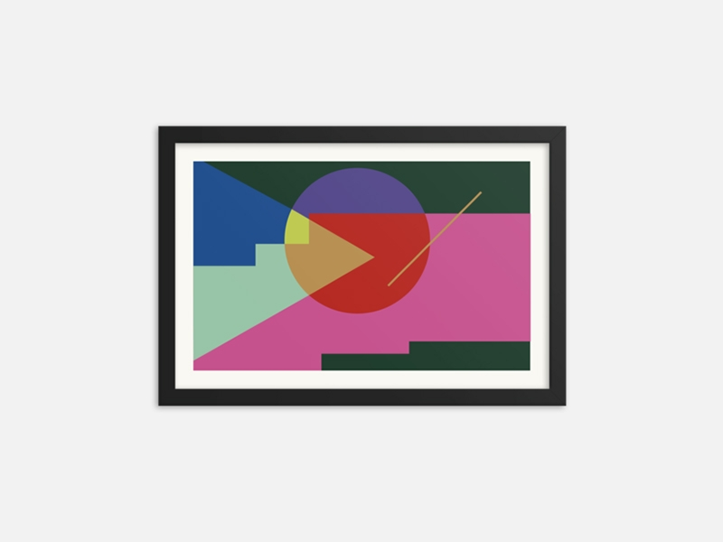 Oh Good Goods - 【 The Form of Mood 】Framed Poster