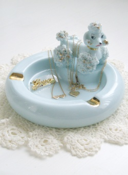 "Interior - 1950's Lefton ""Spaghetti Poodle"" Ashtray / Jewelry Bowl - Little ♥ Hideaway 〜ヴィンテージから現代まで〜 Candy Hearts♡USA & UK 輸入雑貨"