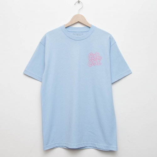 Logo Tee - Light Blue x Pink - cup and cone WEB STORE