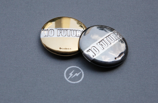 Bunney for Fragment 34mm 'NO FUTURE' Badge : SKOOL OF DAZE