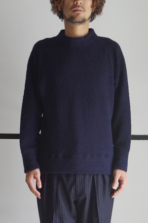 MOOK NECK PULL-OVER SHIRTS/ NAVY