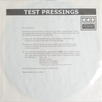 """Testpressing#002: Grows Without Bound / Primitive Equations by Demdike Stare - 12"""" - Boomkat - Your independent music specialist"""