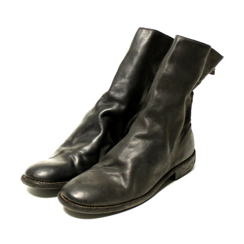 GUIDI / Back Zip Boots - Horse / D.Brown / 988 | STARLING online store