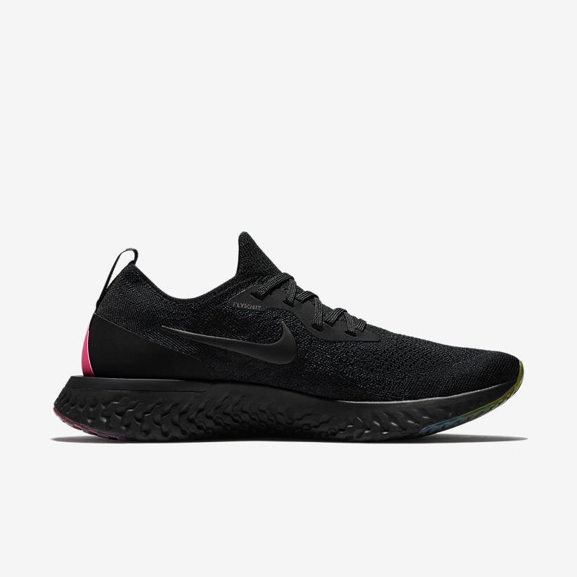 【NIKE公式】ナイキ エピック リアクト フライニット Betrue 'Black & Multicolor' (AR3772-001 / EPIC REACT FLYKNIT BETRUE). Nike⁠+ SNKRS JP