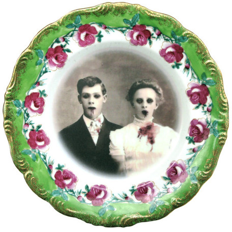 Zombie Love Ceramic Plate - Shop - Third Drawer Down