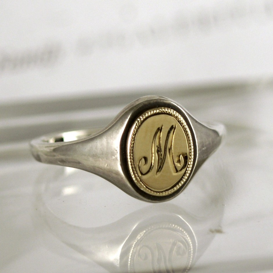 RUST jewellery — {小さなシグネット・リング}<BR>small signet ring