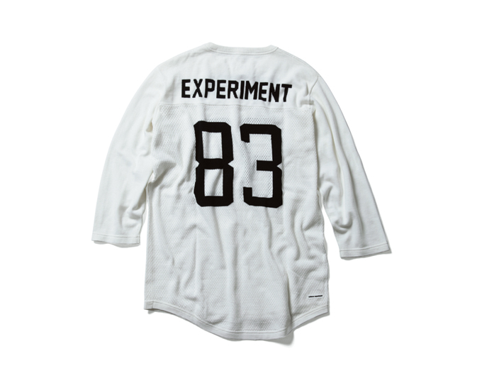 uniform experiment | PRODUCT | NUMBERING MESH 3/4 SLEEVE KNIT