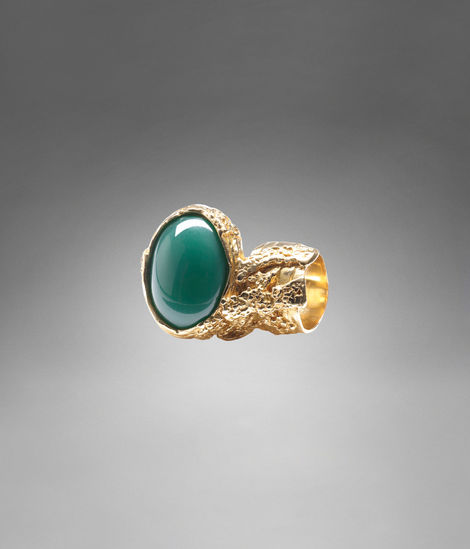YSL Arty Oval Ring in Green - Rings - Jewelry - Women - Yves Saint Laurent - YSL
