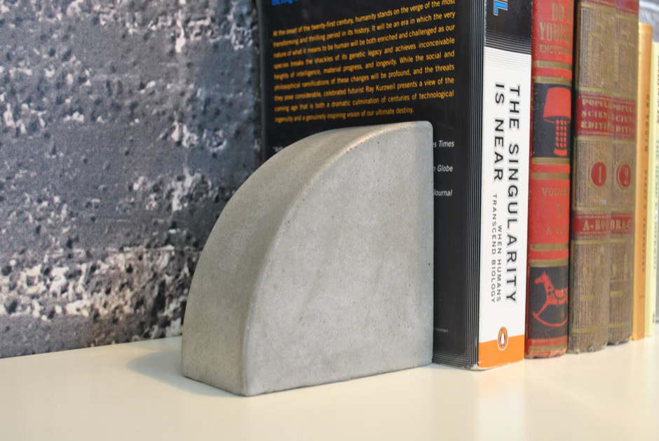 Concrete Bookends by fmcdesign on Etsy