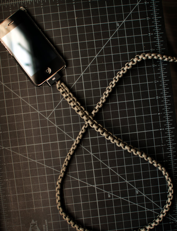 Foliage Green iPhone Paracord Cable by cdadamo on Etsy