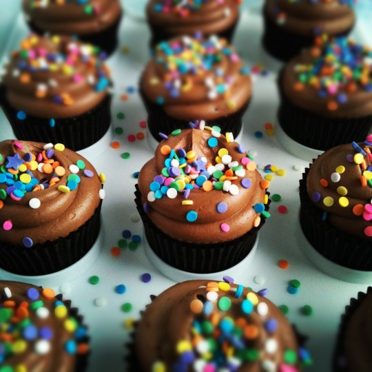 Sweetapolita – Chocolate Birthday Cupcakes with Nutella Cloud Frosting