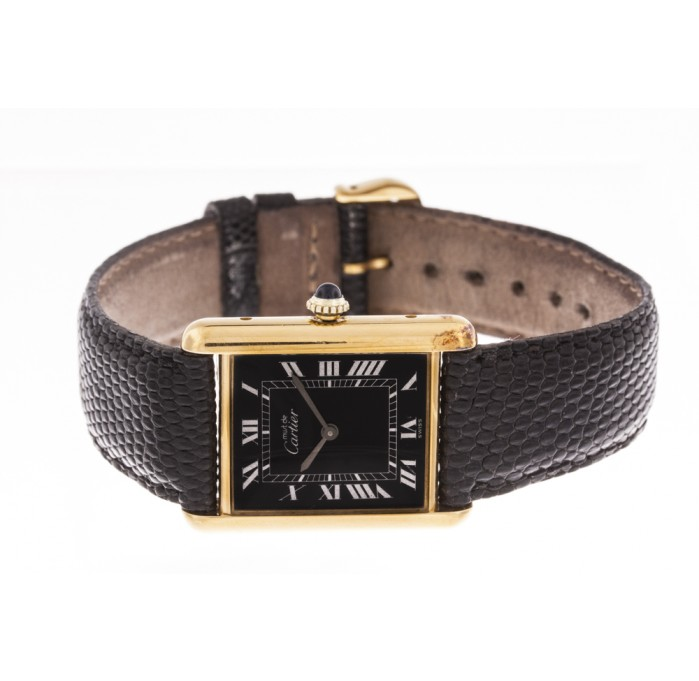 black_face_cartier_le_must_leather_strap_watch_2.jpg (699×681)