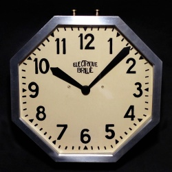 """1920-30's French Art Déco """"Stenciled Dial"""" Wall Clock - FUNNY SUPPLY"""