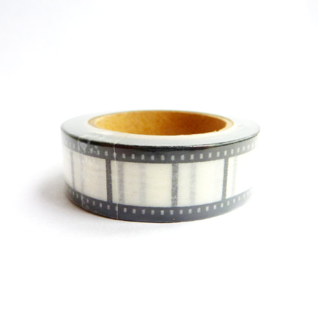 Film Strip Washi Tape Black and White 15mm by PinkPnines on Etsy