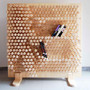 Playful Shelving Doubles as a Kid-Sized Pin Press Toy | Designs & Ideas on Dornob